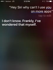 Siri talks back