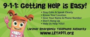 Getting Help for 911 is easy. This graphic from Colorado is meant to teach kids how to use their phones to dial the emergency number.