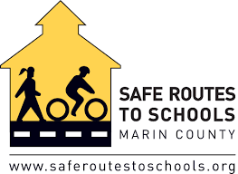 This is a logo for safe routes to school in Marin County, Ca.