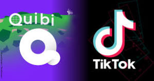 We see logos for Quibi and for TIkTok. Both services stream video on phones but TechCrunch and DearSmartphone see important differences.