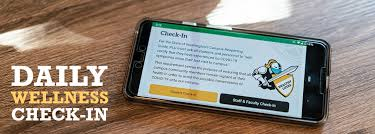 Worried from messaging on phone? Pacific Lutheran University sends its community reminders of a daily wellness check in on their phones.