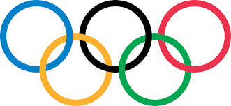 The five colored rings for the Olympics